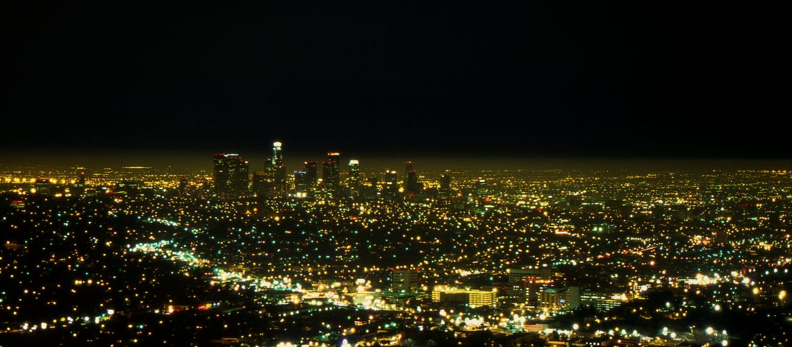 L.A._at_Night_-_Griffith_Observatory,_Los_Angeles,_California,_USA_-_August_1995